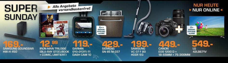 Saturn Super Sunday CANON EOS 1200D +18 55mm+75 300mm Objektive für 449€ und mehr Saturn Super Sunday Angebote