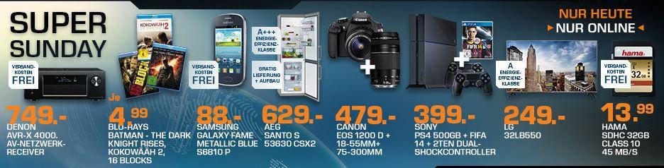 DENON AVR X4000   AV Receiver für 649€ und mehr Saturn Super Sunday Angebote