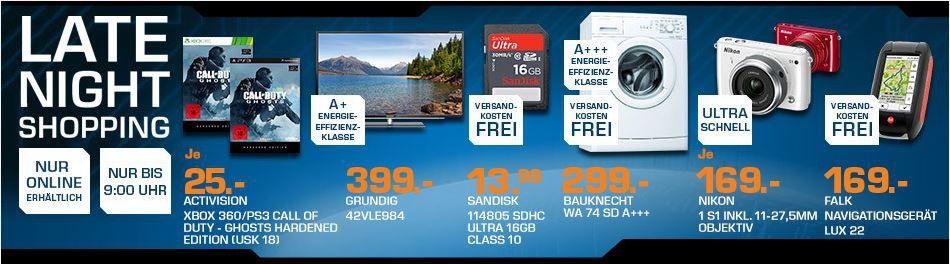 Saturn1 BAUKNECHT WA 74 SD  Waschmaschine für 299€ statt 408€   und mehr Saturn Late Night Sale Angebote