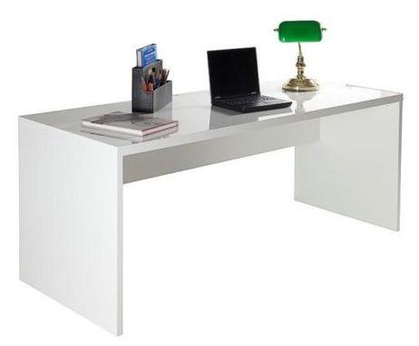 Schreibtisch Kronos in Hochglanz weiß für 139€ (statt 169€)