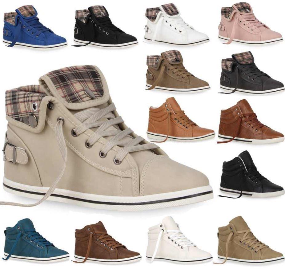 High Top Sneakers für Damen und Herren   vier Modelle, je Paar 13,90€ inkl. Versand