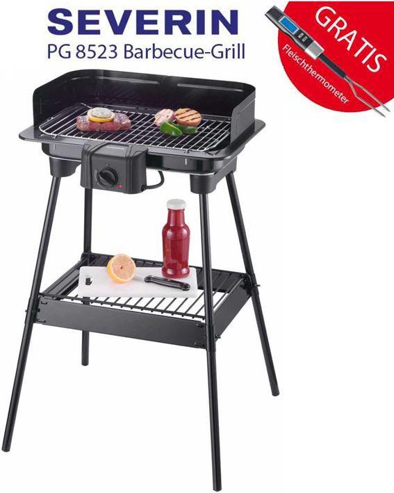 Severin PG 8523   elektro Barbecue Standgrill + Fleischthermometer für 29,99€