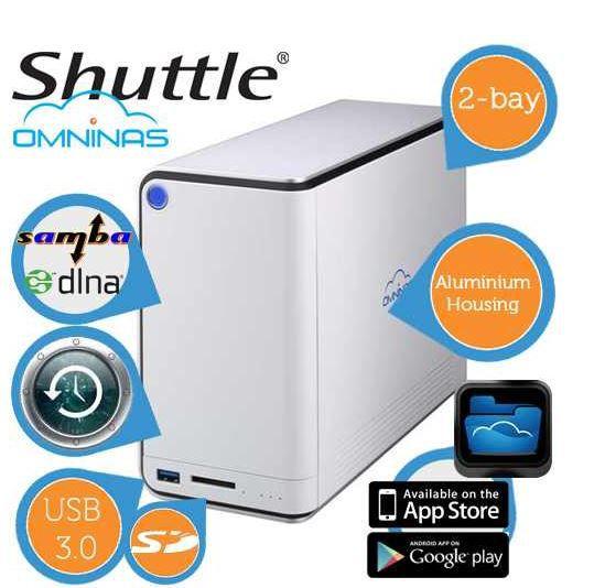 Shuttle Shuttle Omninas KD20    NAS Homeserver für 45,90€   Update