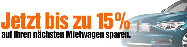 Sixt Bis zu 15% Rabatt bei Sixt   günstige Mietwagen bis 29. März 2015