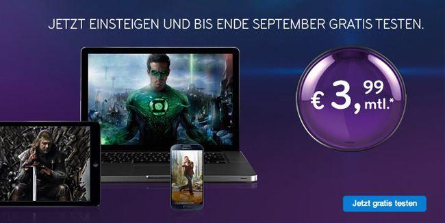 Snap Online Videothek von Sky bis Ende September kostenlos testen + sonst nur 3,99€ im Monat