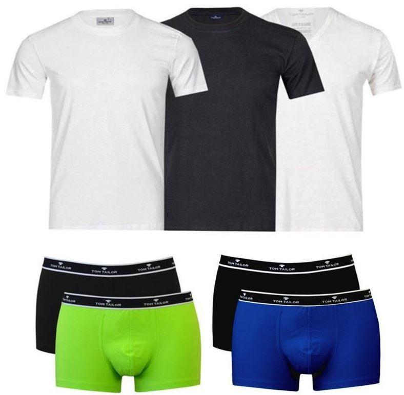 Tom Tailor   T Shirts oder Boxershorts im 4er Pack für nur 19,95€
