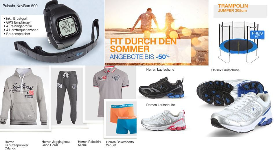 Amazon Ultrasport Aktion: Fit durch den Sommer mit bis zu 55% Rabatt!