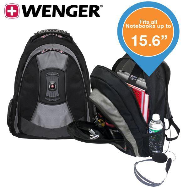Wenger Wenger Teton   15,6 Laptop Rucksack mit 23l Packvolumen für nur 25,90€