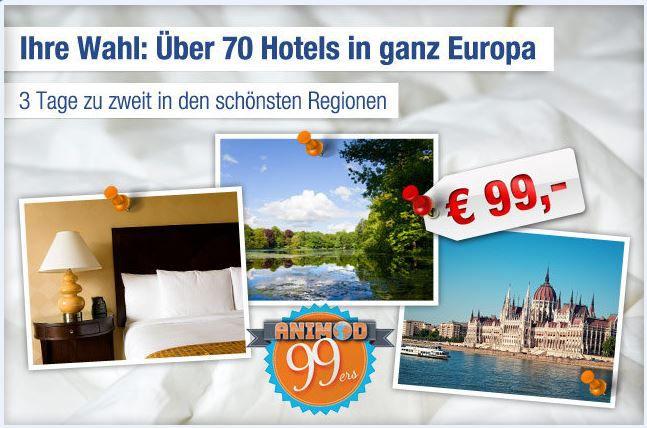 Animod Hotel Gutschein für 2 Übernachtungen und 2 Personen in Europa nur 84€   Update!