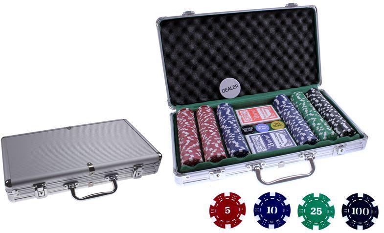 Alu Pokerkoffer mit 300 Jetons für nur 12,99€ inkl. Versand