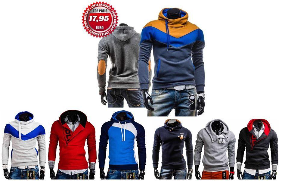 BOLF   38 Herren Modelle Sweatshirts und Hoodys für je 17,95€ inkl. Versand