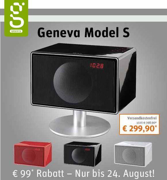 GENEVA Model S   Bluetooth Soundsystem mit FM und DAB/DAB+ Radio statt 398,90€ für 299€