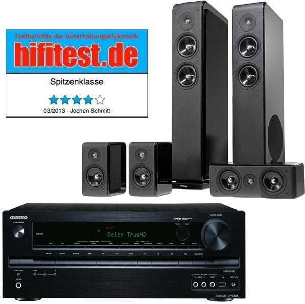 hifi Onkyo TX NR535 B 5.2 AV Receiver mit 5.2 Lautsprecher statt 1.139€ für 666€ und mehr Cyberport Weekend Deals