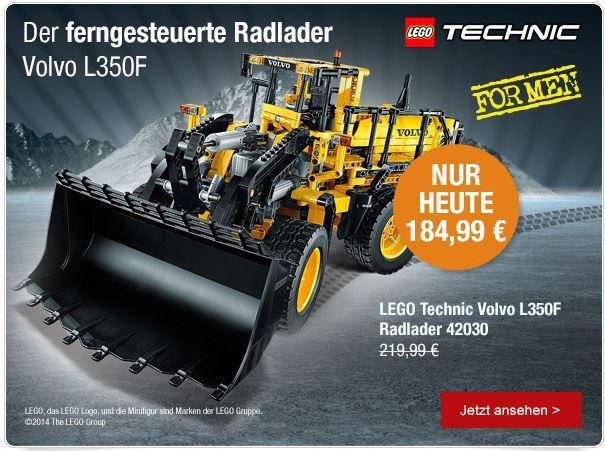 lego LEGO Technic Volvo L350F Radlader ab 166,50€ und mehr bei den Galeria Kaufhof Sonntagsangeboten