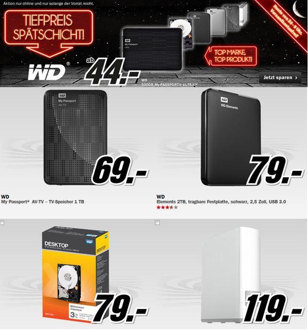 mm2 WD WDBH2D0030HNC ERSN   3TB interne Festplatte ab 79€ bei der WD MediaMarkt Tiefpreisspätschicht