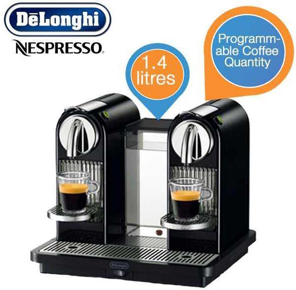nespresso1 DeLonghi EN 325 B Nespressosystem Citiz im Tower für 158,90€