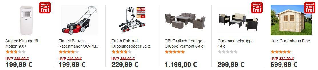 OBI Preisfällerwoche mit großen Gartenmöbel Abverkauf im Online SAL€!