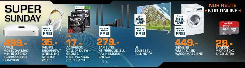 APPLE Mac mini 2,5 GHz dual Core Intel Core i5 für 499€ und mehr Saturn Super Sunday Angebote