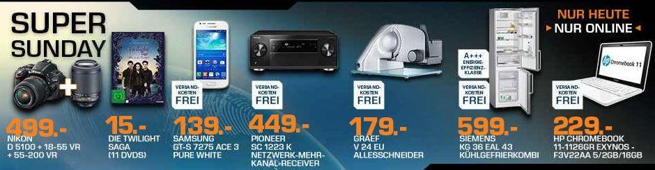 saturn2 Nikon D5100   Digitalkamera im KIT 18 55 VR + 55 200 VR ab 499€ und mehr Saturn Super Sunday Angebote