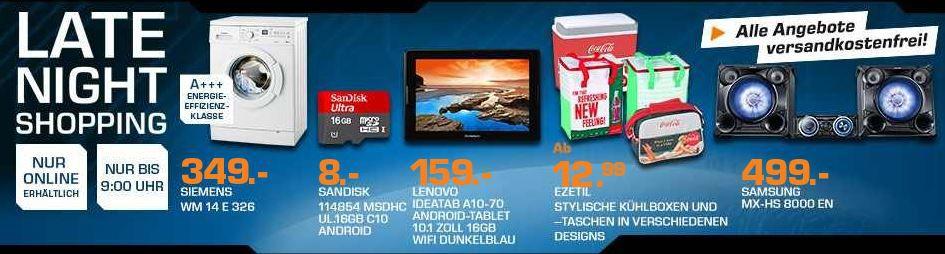 saturn4 SIEMENS iQ300 varioPerfect Waschmaschine für 349€   und mehr Saturn Late Night Sale Angebote