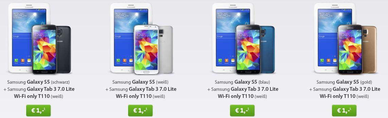Vodafone Smart XL Junge Leute Aktion + Top Smartphone & Tablet z.B. Samsung Galaxy S5 16 GB + Galaxy Tab 3 7.0 WiFi für 34€/monatl.
