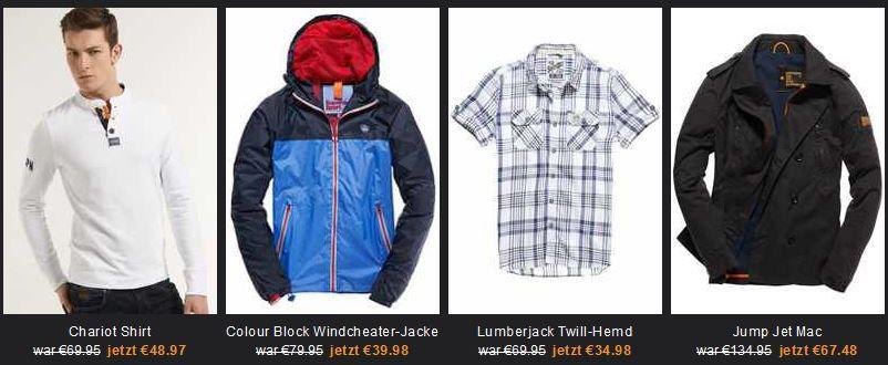 superdry1 SUPERDRY Sale mit bis zu 50% Rabatt auf ausgewählte stylishe Kleidung. Jacken, Jeans, Shirts und mehr   Update