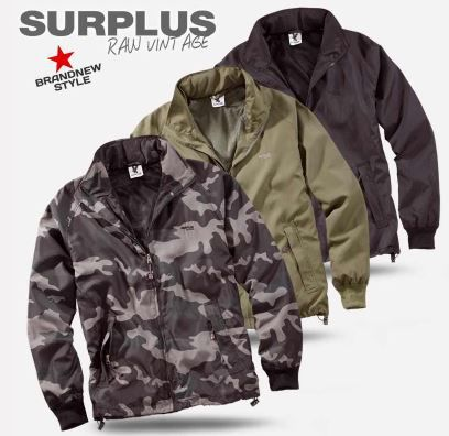 !Surplus Basic Herren Windbreaker mit Quick Dry Function für je 24,90€