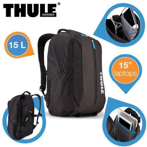 Thule TCBP 317 BLKDB   15 Laptop Rucksack mit 25 Jahre Garantie für 45,90€