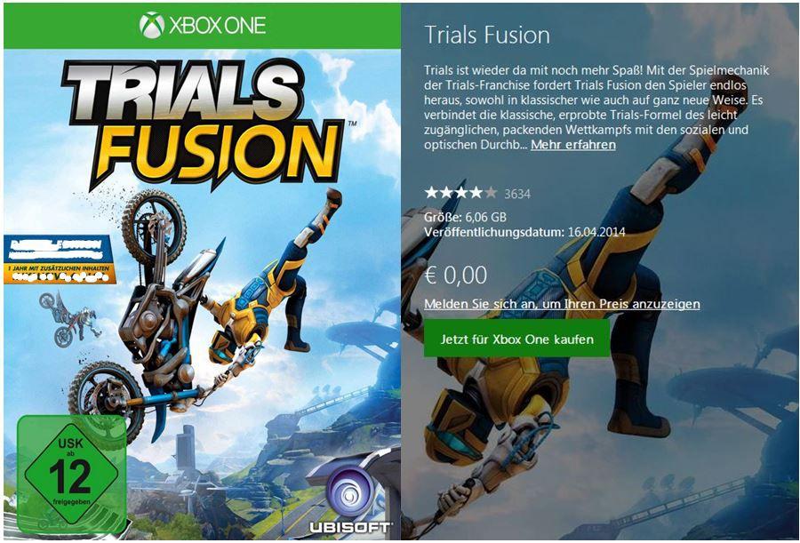 Demo Games: Trials Fusion und Killer Instinct kostenlos im X Box Store!