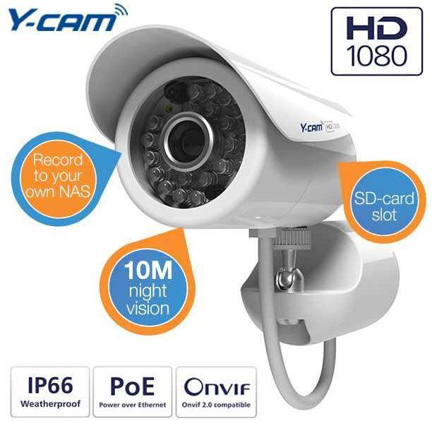 Y Cam Bullet HD 1080 2. Generation   1080p Outdoor Überwachungskamera für 175,90€