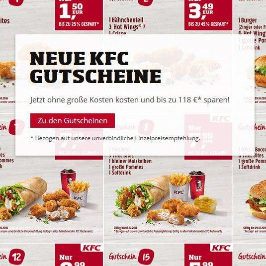 Kentucky Fried Chicken   KFC aktuelle Rabattgutscheine zum ausdrucken