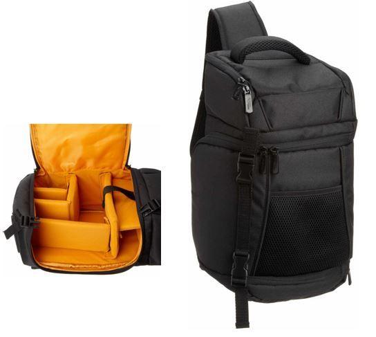 Amazon Basic Amazon Basic RFQ359   kleiner Sling Rucksack für SLR Kameras für 22,03€