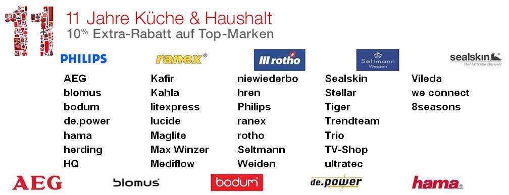 10% Extra Rabatt Sale auf Top Marken bei Amazon Küche & Haushalt   Update!