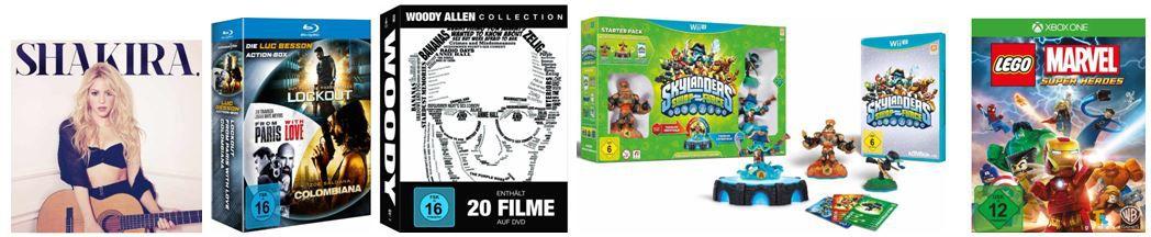 Woody Allen Collection (20 Discs) für 59,97€ und andere günstige DVDs, MP3, Games & Blu rays @digitale Herbstschnäppchen