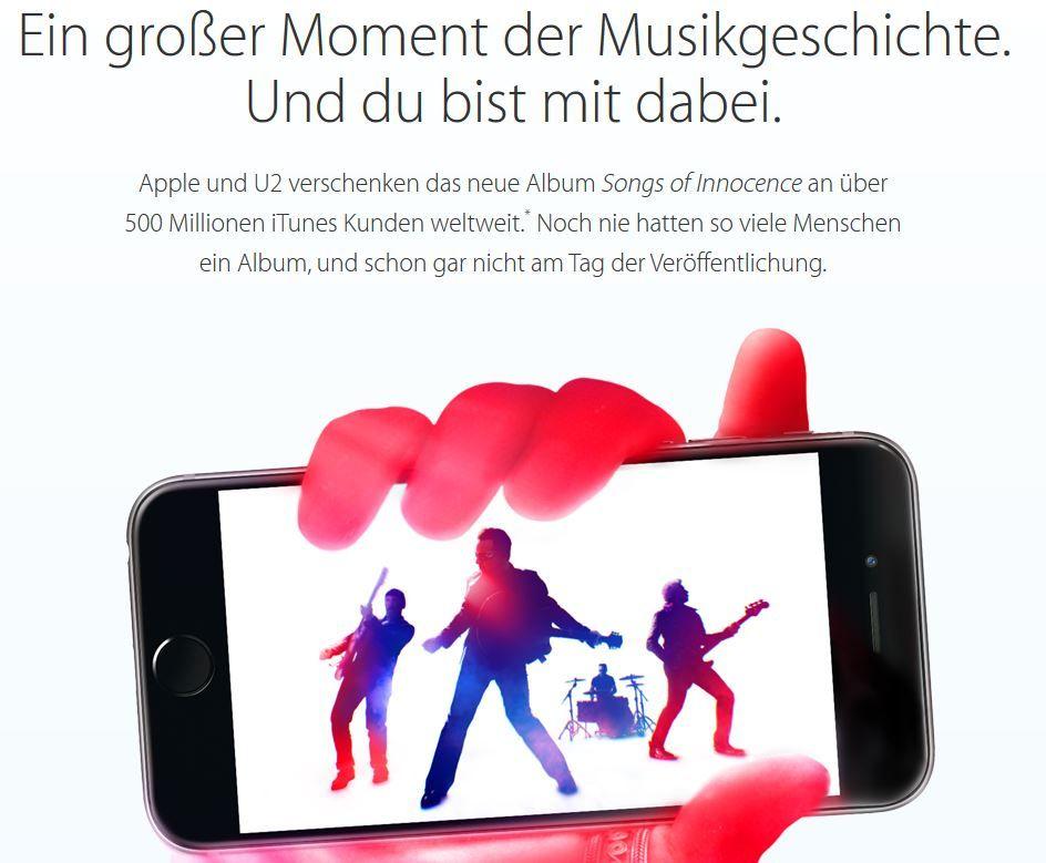 Apple Kostenlos! U2 Album: Songs of Innocence im iTunes download   Update!