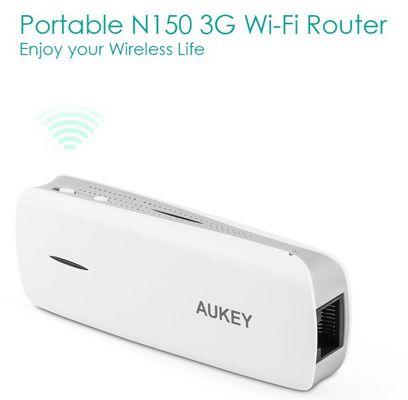 Aukey 150Mbps Wlan Router mit 1800mAh Powerbank ab 11,99€