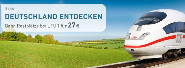 Restplätze: durch Deutschland für 27€ oder nach Italien oder Schweden ab 37€ mit der Deutschen Bahn