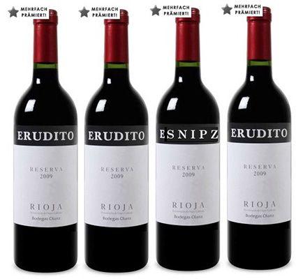6 Flaschen Bodegas Olarra Erudito Rioja Reserva DOC Rotwein für 26,89€