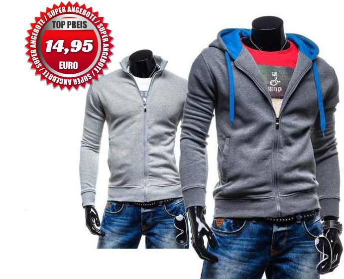 Bolf Star Raw   Herren Hoodies mit Zipper für je 14,95€