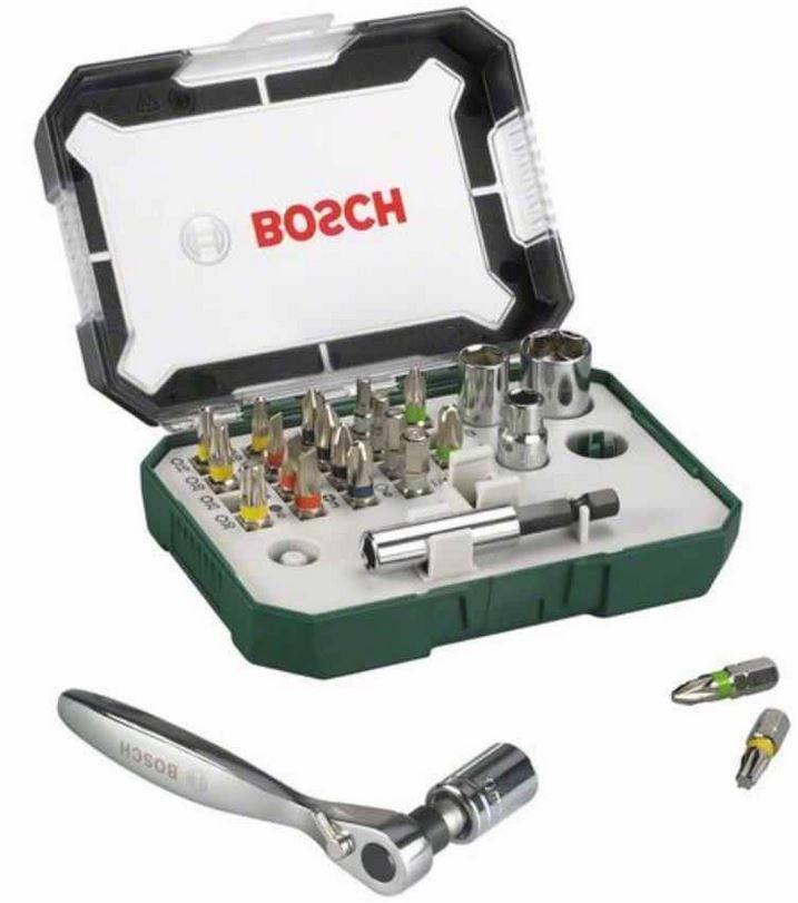 Bosch Bits Bosch 32 tlg. Schrauberbit Set + Ratsche für 14,99€   Update!