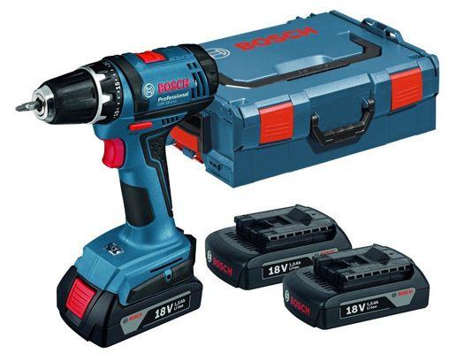 Bosch GSB 18 2 LI Professional + 2 x 3,0 Ah Akku + L Boxx für ca. 176€