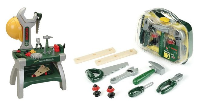 Bosch Junior Werkbank + Werkzeugkoffer für 26,96€ (statt 38€)