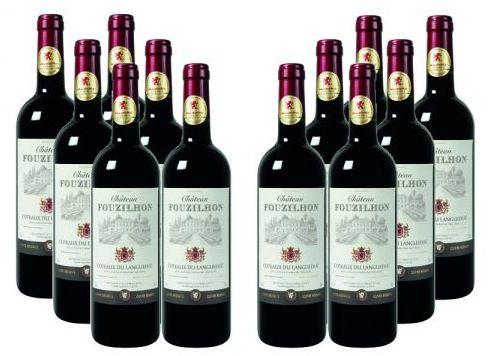 Château Fouzilhon 12 Flaschen Château Fouzilhon Rotwein für 56,50€