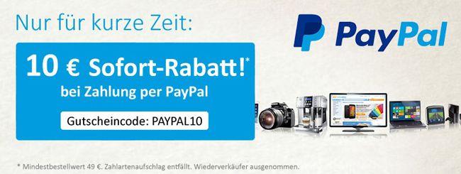 Computeruniverse Paypal Gutschein 10€ Gutschein auf ALLES bei Computeruniverse mit Paypal Zahlung