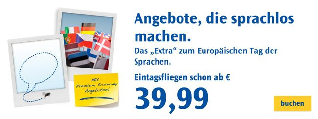 Condor Eintagsfliegen Condor Eintagsfliegen: One Way Flüge innerhalb Europas ab 39,99€