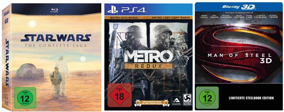 DVD Blu ray2 Star Wars: The Complete Saga I VI Blu ray für 66,97€ und andere günstige DVDs, MP3, Games & Blu rays @digitale Herbstschnäppchen
