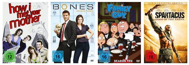 DVD Serien 3 TV Serien für nur 25€ bei Amazon   z.B. How I met your Mother, Bones und mehr