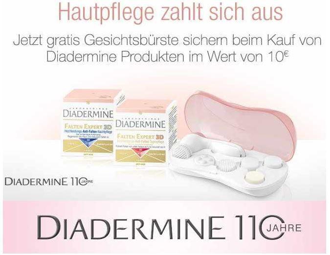 Diadermine Gratis DIADERMINE Gesichtsbürste im Wert von 19€ beim Kauf von DIADERMINE Artikeln ab 10€!