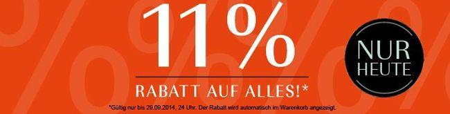 Douglas 11% Rabatt auf ALLES bei Douglas   auch im Sale Bereich!