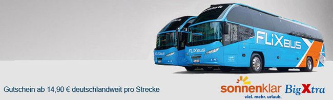 Flixbus Flixbus Gutschein für 14,90€   eine Strecke durch ganz Deutschland   Update!